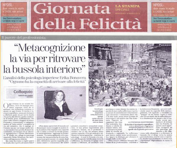 F- LaStampa - Metacognizione